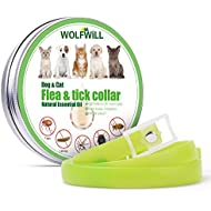 WOLFWILL Flea And Tick Collar For Dogs, Waterproof Dog Anti Flea Collar With 25'' Length for Small Medium Large Dogs, 2019 New Natural Formula