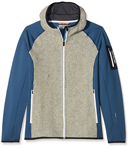 Ortovox Herren Fleece Plus Classic Knit Hoody, Night Blue, L