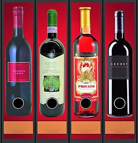 rrücken Wein Flasche Regal File Sticker Ordner Aufkleber Etiketten Deko 8039 ()
