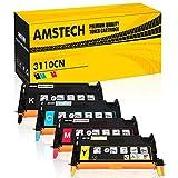 Amstech 4 Packs Kompatibel Toner Replacement fuer Dell 3110CN Toner Dell 3110 Dell MFP 3115CN Tonerkartusche XXL Schwarz Cyan Magenta Gelb-8000 Seiten