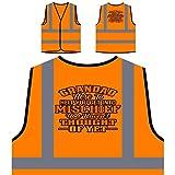 Opa hier, um dir Unfug zu helfen Personalisierte High Visibility Orange Sicherheitsjacke Weste u161vo