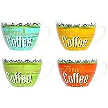 Novastyl 5186083 - Set di 6 tazze Jumbo Café du Monde, in porcellana, 40 cl, multicolore