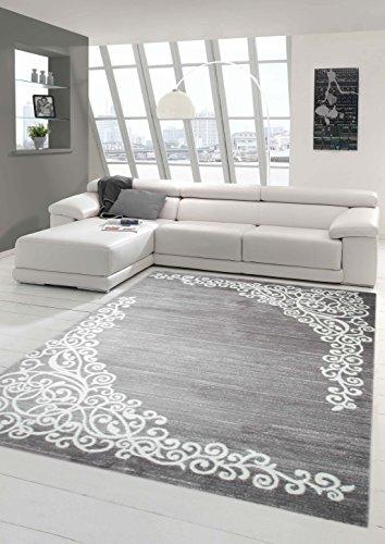 Traum tappeto moderno design tappeto orientale con tappeto glitzergarn soggiorno con motivo floreale heather grey crema größe 200x280 cm