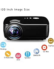 Best Budget 120 Inch Image Size Projector for Home Cinema Entertainment Watch Cricket TV Shows