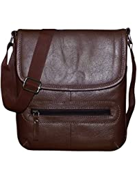 Style98 100% Pure Leather Handmade Stitched Unisex Sling Bag For Men,Women,Boys & Girls - B06XXQRMJM