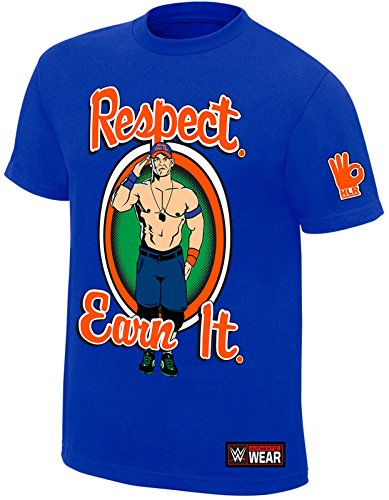 WWE - John Cena - Respect. Earn It. Never Give Up OFFICIAL AUTHENTIC T-SHIRT