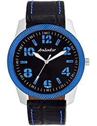 Armbandsur Analog black & Blue dial elegant Watch-ABS0027MBB