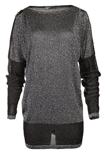 Jean Paul Berlin Damen Pullover Schwarz/Silber 763704-3766, Konfektionsgroesse:40