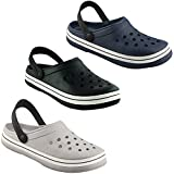 #1: Birde PU Black Clogs Sandals for Mens & Boys