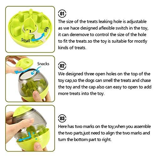 ALAMP Hundespielzeug Ball Interaktives Hundespielball Leckerli-Spender Snackball gegen Langeweile für Hunde und Welpen - 5