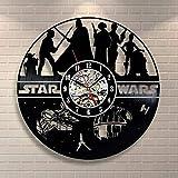 Star Wars wanduhr,Vinyl Record wanduhr,Wohnzimmer Uhr,Moderne Retro Wanduhr,Für Wohnzimmer Hotel Partei-D 30cm(12inch)