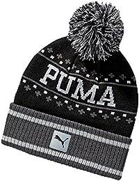 Puma patrón unisex Equipo Local Beanie logo de PUMA Cat - Negro / asfalto