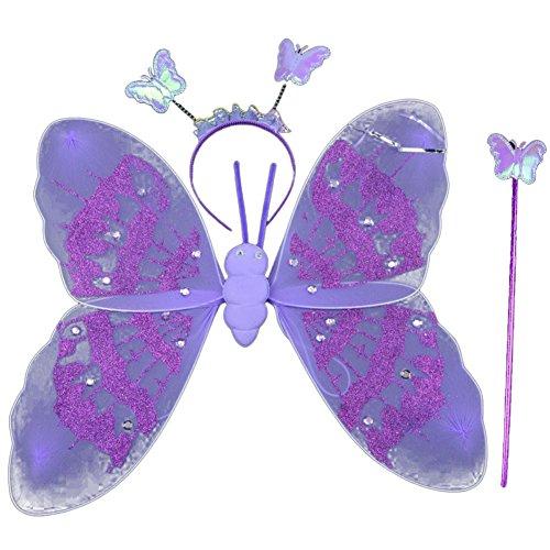 Moresave-Schmetterlings-Flgel-und-Stirnband-Set