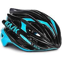 Kask - Mojito 16 - Casco para bicicleta, Adultos , Multicolor (Black/Azzuro), M (52-58 cm)