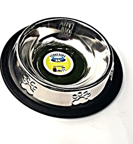 Yummy Paws Stainless Steel Non Tip/Skid Doodler Paws Dish Perfect for Small Dog Cat Kitten Puppy, 6 L by Yummy Paws