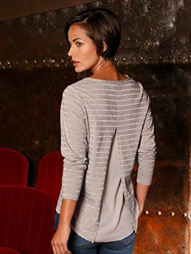Damen Shirt mit metallisiertem Garn by AMY VERMONT mauve meliert
