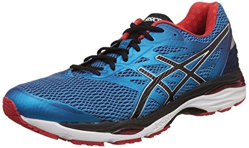 Asics Men'S Gel-Cumulus 18 Island Blue, Black and Vermilion Running Shoes - 9 UK/India (44 EU)(10 US)