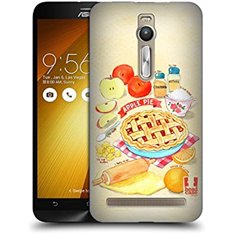 Head Case Designs Torta Di Mele Ricette Illustrate Cover Retro Rigida per Zenfone 2 / Deluxe