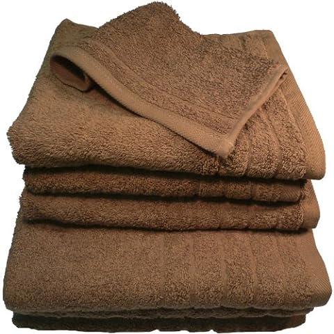 Luxuriöse Badetücher/Badelaken/Waschlappen/Badematten-Sets aus 100% ägyptischer Baumwolle, 500g/m² Bath Sheet- 90cm x 150cm Cocoa