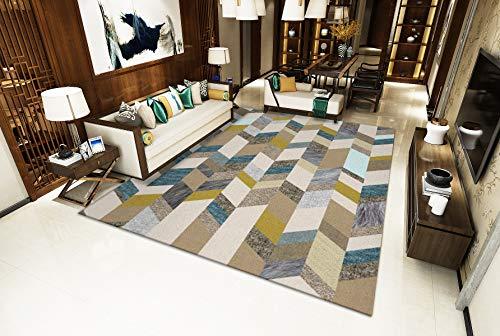 Bunte Streifen Großes Wohnzimmer Teppich Winter Isolierung S - XXXL Moderne Traditionelle Mehrzweckbodenmatte,colorful,160x230cm