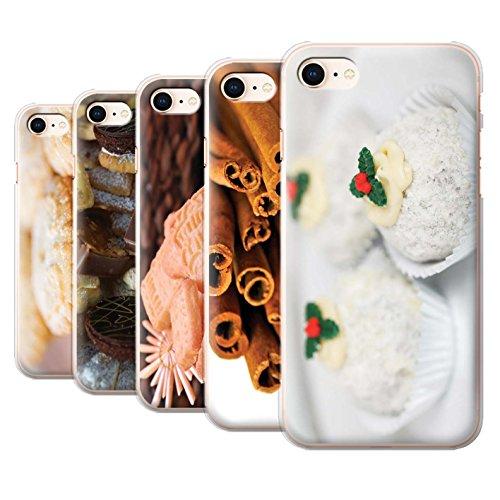 Stuff4 Hülle / Case für Apple iPhone 8 / Mince Kuchen Muster / Weihnachten Essen Kollektion Pack 6pcs
