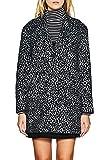 ESPRIT Damen Mantel 117EE1G007, Mehrfarbig (Black 001), Small