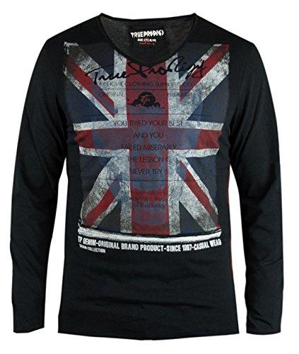 trueprodigy uomo T-Shirt Maglietta Manica Lunga Union