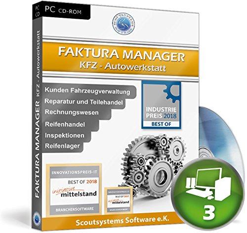 Faktura Manager Kfz Werkstatt Rechnungsprogramm Netzwerk Software 3 PC