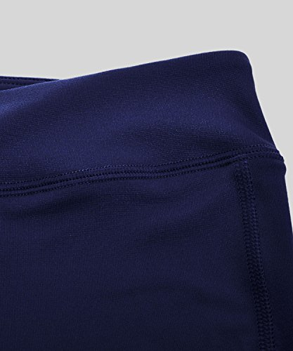 SYROKAN Femme Legging Sport Collant Capri de Running Pure Lime Fitness Pantalon Navy