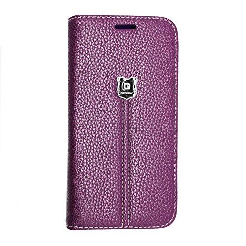 für iPhone 6 / 6S (4,7 Zoll) , Kamal Star® [ KStar Luxury Brown Book ] Kunstleder Tasche PU Schutzhülle Tasche Leder Brieftasche Hülle Case Cover + Gratis Universal Eingabestift KStar Luxury Purple Book