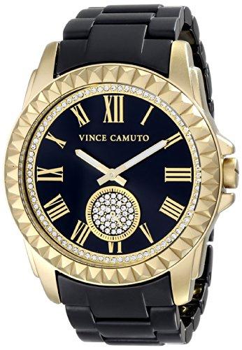Vince Camuto Women's VC/5190GPBK Gold-Tone and Matte Black Ceramic Bracelet Watch