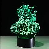 Lampen-Neuheit Usb 3d führte Nachtlampe der Lampen-3d Nachttischleuchten-Nachtbatterie-Lampen-Bewegung