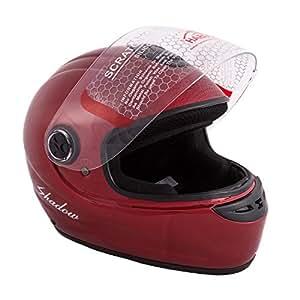 Autofy Habsolite Shadow Full Face Helmet (Red, M)