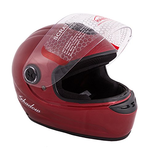 Autofy Habsolite Shadow Full Face Helmet (Red, M)
