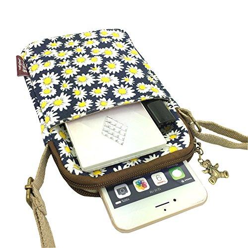 La cintura in vita Derkia Portable Utility gadget bag borsa a tracolla a tracolla in sacchetto, Bambino donna, Chrysanthemum Chrysanthemum