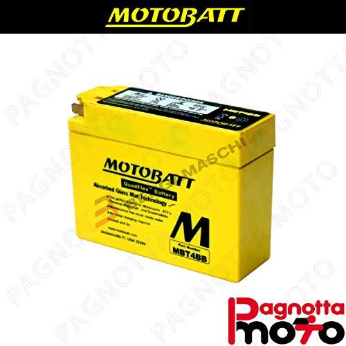 E06018 BATTERIA BATTERY PRECARICATA MOTOBATT MBT4BB YAMAHA TTR E 50 2007>2008 12 V 2_5 AH 113 X 38 X 87 MM ACIDO