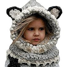 Bufandas del Bebé, Gorros Bebe Invierno Niño Niña Sombrero + Bufanda Punto