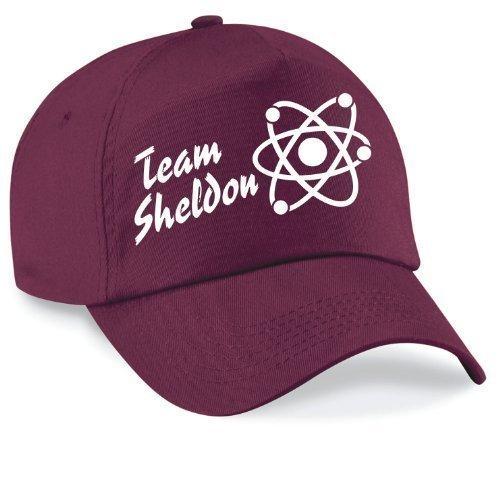 Basecap Team Sheldon Bazinga Movie Style Cap Capy Größe Unisex, Farbe burgundy (Twill Stein Original)