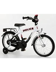 Bachtenkirch Kinder Fahrrad POLICE Oval-S, schwarz/weiß, 16 Zoll, 1300472-PC-88