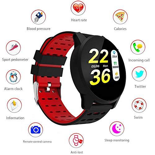 LayOPO Smart Watch Sbloccato, Impermeabile Bluetooth Frequenza Cardiaca Tracker Fitness Pedometro Sport da Polso per Uomo Donna Bambini per Android iOS Phone