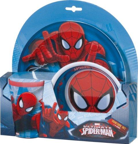 BBS 121567A–Ultimate Spider-Man Mealtime Set, 3teilig aus Melamin
