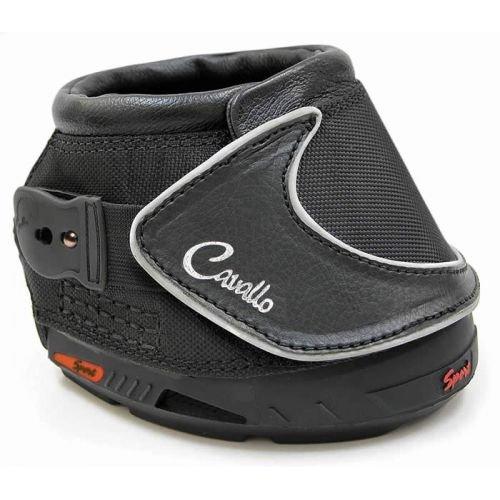 Cavallo Barfuß Schuh für Pferde, 1 Paar, Schwarz - Trittsichere Profilsohle, die den Hufstrahl stützt, und neuartiges Sohlendesign, das das Rutschen beim Abbremsen verhindert