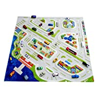 Little Helper 3D Childrens Play Rug in Mini City Design, Multicoloured (150 x 220cm)