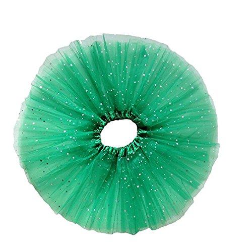OULII Tutu Rock Kleid Mädchen Tutu Glitter Ballett weichem Tüll-Rock (grün) (St Patricks Day Baby Mädchen Outfit)