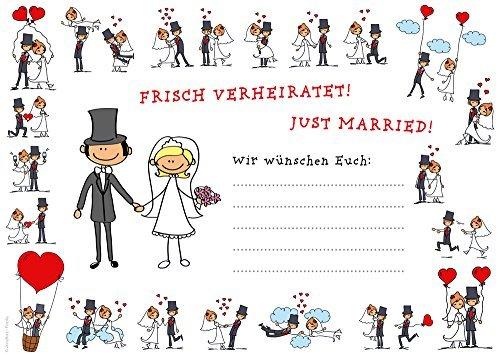 55 lustige Ballonflugkarten (Set 01) für die Hochzeit / Luftballon Postkarten von EDITION COLIBRI © - umweltfreundlich, da klimaneutral gedruckt