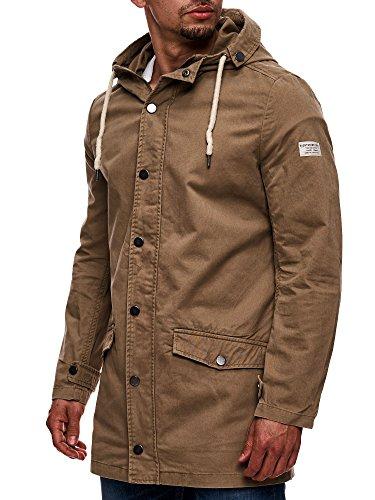 Eight2Nine Herren Parka mit Kapuze Übergangsjacke Outdoorjacke Jacke Kapuzenjacke Mantel Beige S M L XL XXL