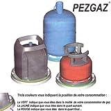 PEZGAZ ® Support sur roulettes - Indicateur de niveau restant pour bouteilles de gaz