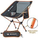 MECHHRE Hauteur Réglable Chaise De Camping Pliable Chaise Pliante avec Sac De...