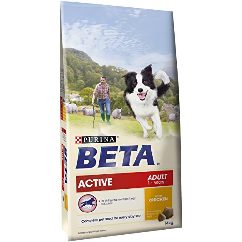 PURINA BETA Adult Active Dry Dog Food with Chicken, 14 kg