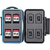 Ares Foto® Speicherkarten Schutzbox für 8 x Nintendo Switch Spiele Cartridges • Memory Card Case • Reisetasche Schutzhülle • Card Safe • Tasche • Etui (MC-NSMSD16)